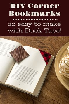 Learn how to make DIY corner bookmarks using cardstock and Duck Tape! Both kids and adults will love making these; they're so easy. Interesting Facts About Me, Corner Bookmarks, Duck Tape, Favorite Pastime, How To Make Diy, Diy Accessories, Fun Crafts, Card Stock, Diy Projects