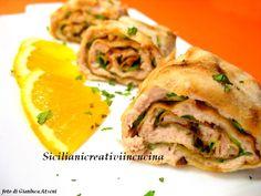 Involtini di pane carasau con tonno e zucchine