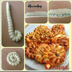 Ideas pasta dough recipes baking for 2019 Yummy Recipes, Dessert Recipes, Yummy Food, Pastry Recipes, Baking Recipes, Bread Shaping, Breakfast Plate, Bread And Pastries, Food Decoration
