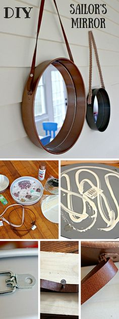 Check out the tutorial: #DIY #Anthropologie Sailor's Mirror Knockoff #crafts…