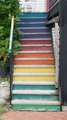 escalier peint marches peintes couleur contremarches peintes stairs colors