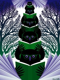 book owls by Severin Millet (for the magazine L'Express, November 2010, Selection paperback)