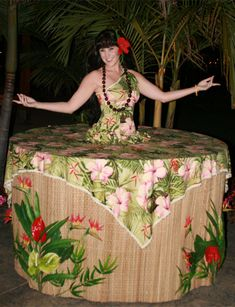 Tropical Strolling Table