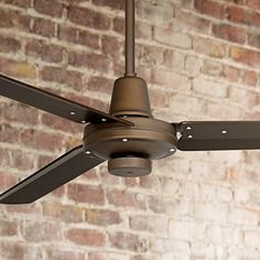 Add airflow to your industrial inspired living space with the Plaza™ handsome oil-rubbed bronze ceiling fan. The design comes complete with three oil-rubbed bronze finish molded ABS blades, and is easily operated by a hand held remote control.