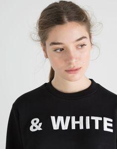 :&WHITE' SWEATSHIRT