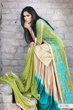 Pakistani Latest Summer Collection 2011 by Sana Safinaz....I like her hair