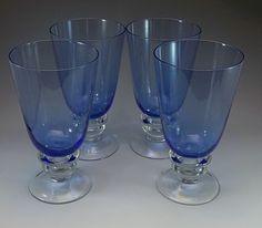 Bullicante Light Blue Goblets Big Thick Bar Glasses Wine Beer Stemware Glasses