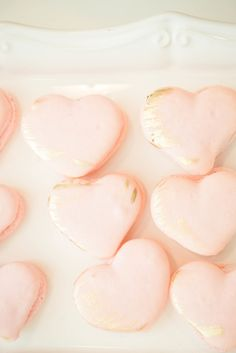 Heart shaped macaroons: http://www.stylemepretty.com/living/2014/11/05/learning-the-art-of-calligraphy-with-laura-hooper/   Photography: Injoy Imagery - http://www.injoyimagery.com/