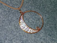 Lunar eclipse pendant - How to make wire jewelery 186 - YouTube