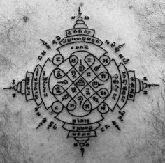 Cambodian Tattoo, Khmer Tattoo, Weird Tattoos, Black Tattoos, Body Art Tattoos, Traditional Thai Tattoo, Muay Thai Tattoo, Dragon Head Tattoo, Kali Tattoo
