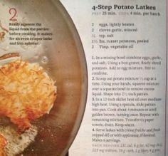 BHG 4-step Potato Latkes - website has lots of yummy variations too.