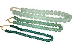 Sea Glass Beads I, Set of 3