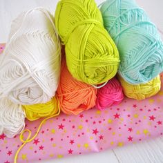 Bright and Colourful Free Crochet Patterns from Color n Cream blog. I love these yarn colours!