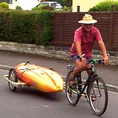 Bamboo bicycle Trailer and other bike trailer plans