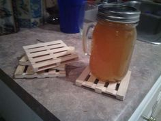 mini pallet coasters - for nick to make