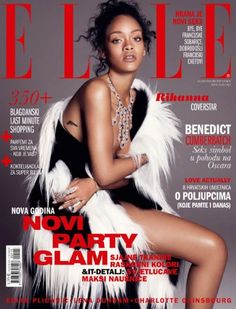 Rihanna - Elle Magazine Cover [Croatia] (January 2015)