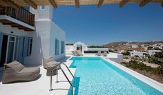 Luxury Villa Rental Site in Greece. The Greek Villas with Handpicked Luxury Villas in Greece's most stunning villa destinations. Luxury Villas In Greece, Mykonos Villas, Luxury Villa Rentals, Sanya, Vacation Villas, Greek, A4, Outdoor Decor, Pools