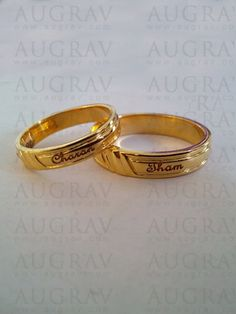 15 Matching Pair Couple Gold Rings Designs In India Gold Rings