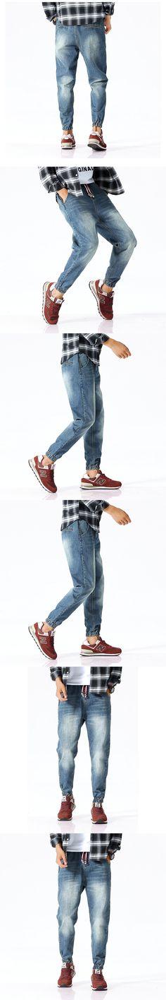 2017 Fashion New Brand Men's Harlan pants Harem Jeans Casual Loose Denim Pants Men Hip Hop Rap Baggy Jeans Male Jogger Trouser