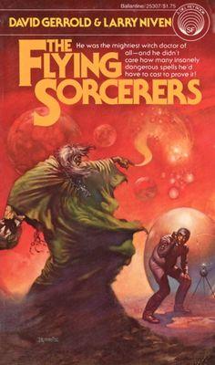 BORIS VALLEJO - art for The Flying Sorcerer by David Gerrold & Larry Niven - 1977 Del Rey / Ballantine