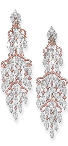 Fashion Jewellery Modern | Rosamaria G Frangini || Diamond Earrings with Rose Gold | via Haute Tramp*****