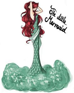 So, here is the first picture and the first fairy tale girl: the little mermaid This version is free interpretated by me (and a little by disney; FAIRY TALE GIRLS PROJECT: The little Mermaid Disney Princess Art, Ariel Disney, Princesa Disney, Princess Style, Disney Fan Art, Disney Girls, Disney Style, Disney Love, Disney Magic