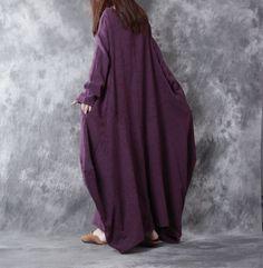 Women Casual Loose Linen Dress