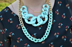 #shoppoppystyle necklace on Julie Leah: A life & style blog