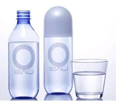 Eau bottled water, from paris baguette korea Water Packaging, Beverage Packaging, Bottle Packaging, Packaging Design, Branding Design, Identity Branding, Drinking Water, Bottled Water, Pinch Of Spice