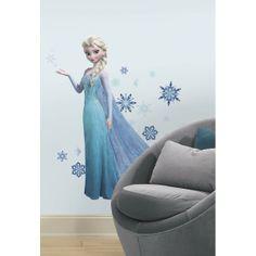 Stickers géant Elsa La Reine des Neiges Disney Frozen