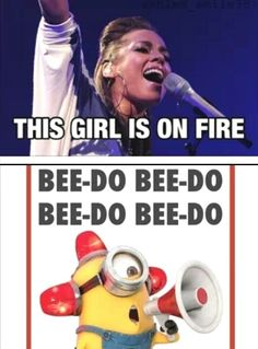 "Cracked up! Can u imagine her singing that at a concert and some random fan just interrupts going ""bee do bee do bee do""?"