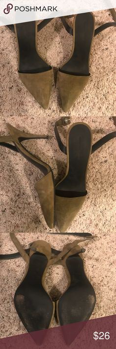 Alexander Wang Lovisa Pumps Alexander Wang Lovisa Pumps. Army green color. Has been worn a few times. Suede is in good condition but please note the heel condition. If you're picky, you'll want to replace them, but it's super cheap to do. Alexander Wang Shoes Heels