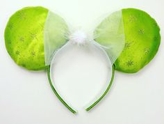Tinkerbell Inspired Mouse Ears Handmade  by WisheryEarMakers #Tinkerbell #peterpan #pixiehollow #tink