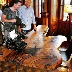Stammdesign at Design Days Grafenegg in Lower Austria! Massive elm tabletop with vintage office equipment. Vintage Office, Office Equipment, Wooden Tables, Austria, Tabletop, Castle, Diy Projects, House Design, Instagram