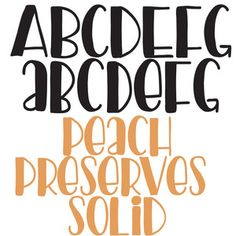 This hand-crafted font is the sister of PN Peach Preserves and is a solid, filled version. Get more fonts like this at Silhouette Design, Silhouette Studio, Makeup Stencils, Next Company, Peach Preserves, Wholesale Boutique Clothing, Unicorn Halloween, Cricut Ideas, Fonts