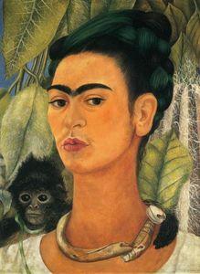 Autoportrait avec Singe - (Frida Kahlo)
