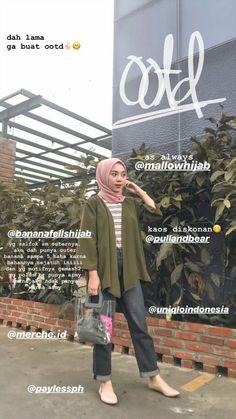 Modern Hijab Fashion, Street Hijab Fashion, Hijab Fashion Inspiration, Muslim Fashion, Fashion Pants, Fashion Outfits, Women's Fashion, Fashion Quotes, Casual Hijab Outfit