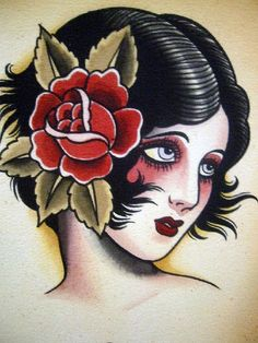 """Vintage Tattoo Flash by Norman """"Sailor Jerry"""" Collins"""