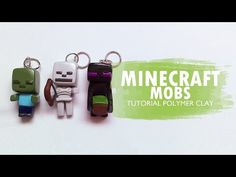 Minecraft Mobs: Zombie, Skeleton, Enderman - Polymer Clay Tutorial // Arcilla polimérica - YouTube
