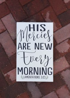 His Mercies are new every morning Lamentations 3 23 COFFEE and JESUS Kitchen Christian Scripture Subway Art Wooden Sign Cafe inspirational