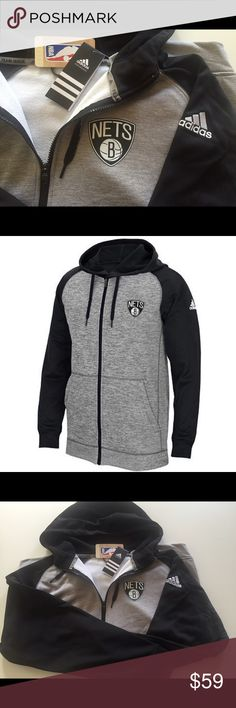 LAST ONE! Brooklyn Nets ADIDAS Full Zip Hoodie PRODUCT DETAILS Continue your dedication to the Brooklyn Nets by wearing this men's comfortable adidas full-zip hoodie.   PRODUCT FEATURES  Drawstring adjustable hood Full zip front 2 pockets Long sleeves  FABRIC & CARE  Polyester Machine wash Imported Adidas Shirts Sweatshirts & Hoodies