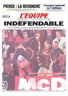 """Eric Cantona en 1995 : """"Indéfendable"""" : 70 ans de L'Equipe : 35 Unes marquantes - Linternaute"""