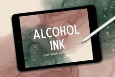 Get the look of real alcohol inks using the Procreate app. These Procreate brushes come with different shapes and sizes of alcohol ink plus two additional brushes for creating a foil effect with splatter. Watercolor Kit, Ipad Art, Photoshop Brushes, Photoshop Actions, Lightroom, Ink Stamps, Creations, Ios 11, File Format