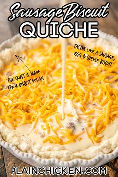 Quiche Recipes, Brunch Recipes, Breakfast Recipes, Breakfast Casserole, Breakfast Quiche, Brunch Ideas, Yummy Recipes, Recipies, Healthy Recipes