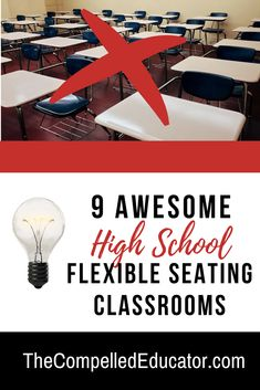 This post focuses on flexible seating in high school classrooms. Classroom design is based on brain research and the infusion of technology in the classroom.This post also shares what flexible seating IS and what it is NOT.