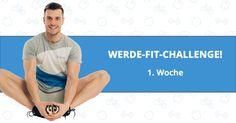"""Hier findest Du den Trainingsplan mit Anleitung für die 1. Woche der """"Werde-FIT-Challenge!"""". Ich bin jetzt schon gespannt darauf, wie viele Kilos wir insgesamt in den 60 Tagen verlieren werden!"""