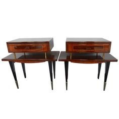 Outstanding Pair of Italian Night Stands/End Tables | From a unique collection of antique and modern night stands at http://www.1stdibs.com/furniture/tables/night-stands/