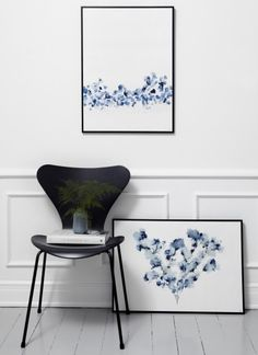 Trine Holbæk – Fields posters and Fritz Hansen chair