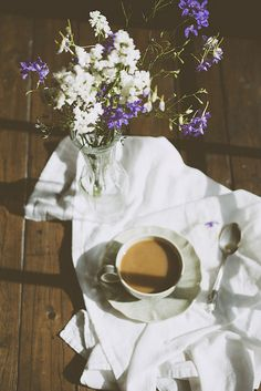 photons, flowers, and morning coffee