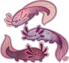 Space Axolotl by Galadnilien.deviantart.com on @DeviantArt space creature